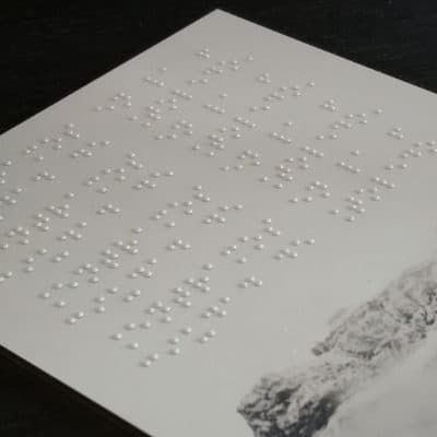 Impresión digital Háptica Braille sobre cualquier material rígido con base plana