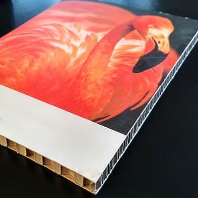 Impresión digital sobre cartón nido de abeja