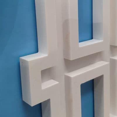 Corte PVC - Letras corpóreas