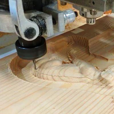 Fresado de madera en 3D.